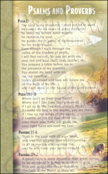 Psalms & Proverbs Mind & Heart Memory Cards (Package of 12)