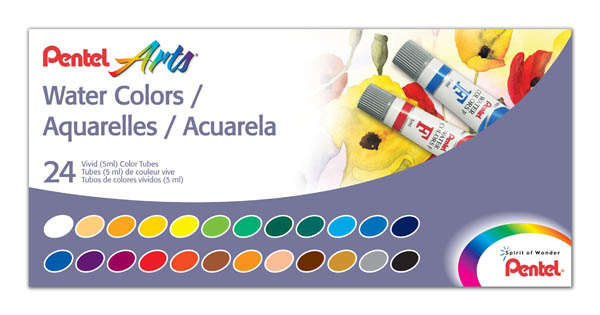 Pentel Water Colors - 24 Color Sets