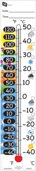 Magnetic Thermometer Recording Chart