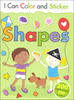 I Can Color and Sticker: Shapes