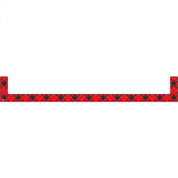 Magnetic Pockets Large-Red Plaid (set of 4)