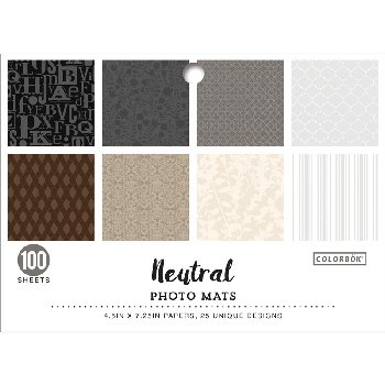 "Photo Mats 4.5"" x 7.25"" - Neutral"