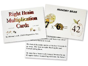 Right Brain Multiplication Cards