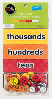 Magnetic Place Value Disks and Headings: Grades 1-3 (140 disks)