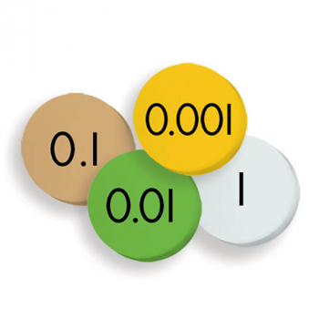 Place Value Discs - 4-Value Decimals to Whole Number (Sensational Math)