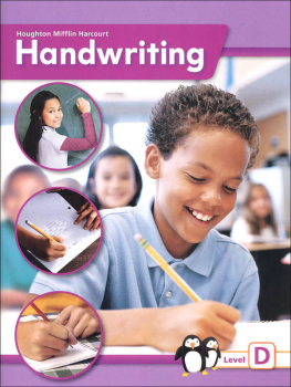 Houghton Mifflin Harcourt International Handwriting Continuous Stroke Student Edition Grade 4 Level D
