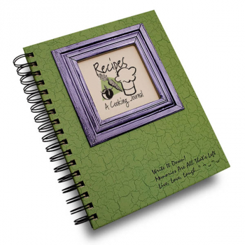Recipes: A Cooking Journal - Write it Down Full Size Color Collection 200-page Journal