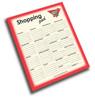 Shopping Pad - Write it Down Jumbo 50-page Notepad