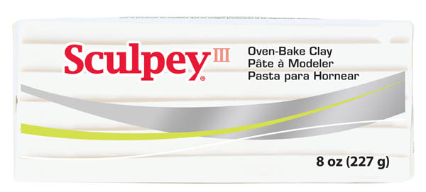 Sculpey III - Oven-Bake Clay White, 8 oz.