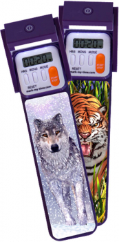 Mark-My-Time 3D Digital Booklight - Wolf/Tiger Flip