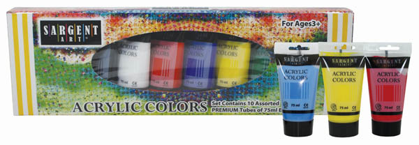 Acrylic 10 Tube Paint Set