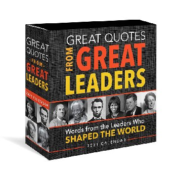 Great Quotes From Great Leaders 2021 Boxed Calendar