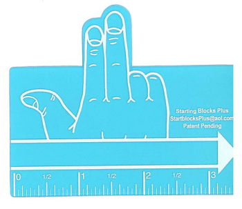 Blue Two Finger Spacer