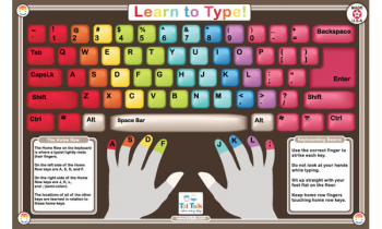 Learn to Type Placemat
