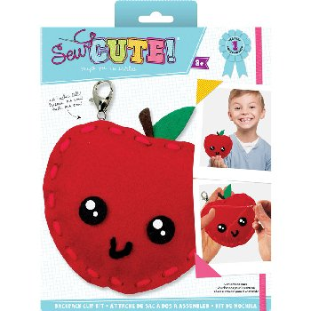 Sew Cute Felt Keychain Kit Apple