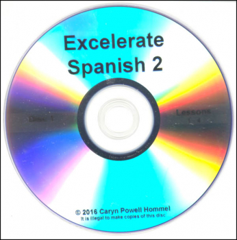 Excelerate Spanish 2 DVD Lessons 1-4