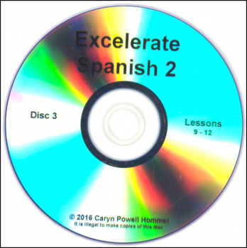 Excelerate Spanish 2 DVD Lessons 9-12