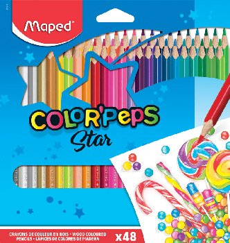 Color Pep's Colored Pencils (Pack of 48)