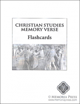 Christian Studies Memory Verse Flashcards Set of 130