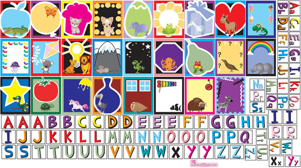 Letters Wall Play Set (Peel, Play & Learn)