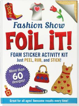 Fashion Show Foil It! Foam Sticker Activity Kit
