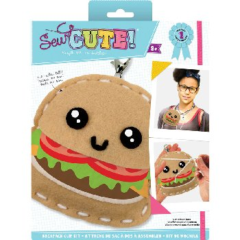 Sew Cute Felt Keychain Kit Hamburger