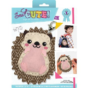 Sew Cute Felt Keychain Kit Hedgehog
