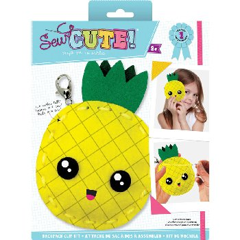 Sew Cute Felt Keychain Kit Pineapple