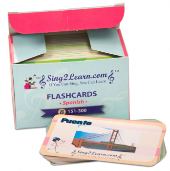 Sing2Learn Spanish Flashcards B 151-300