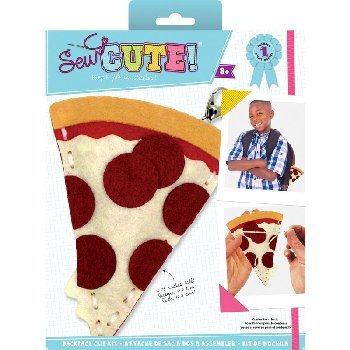 Sew Cute Felt Keychain Kit Pizza