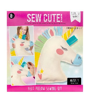 Sew Cute Felt Pillow Kit - Unicorn