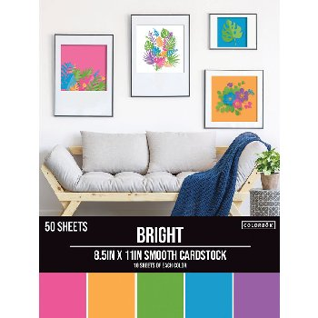 "Smooth Cardstock Paper Pad 8.5"" x 11"" - Bright"
