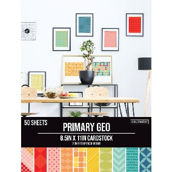"Smooth Cardstock Paper Pad 8.5"" x 11"" - Primary Geo"