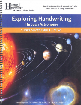 Exploring Handwriting Through Astronomy: Cursive