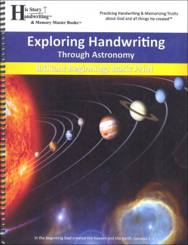 Exploring Handwriting Through Astronomy: Print