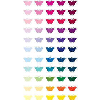 Multicolor Butterfly Repeat Stickers