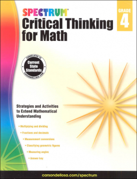 Spectrum Critical Thinking for Math 4