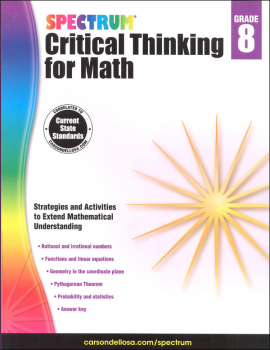 Spectrum Critical Thinking for Math 8