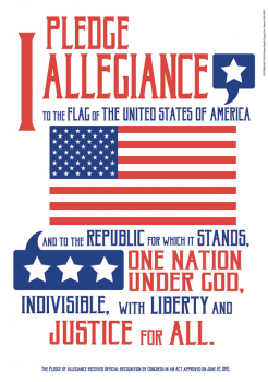 "Pledge of Allegiance Poster 13""x19"""