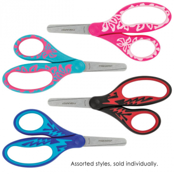 "Fiskars Kids Scissors - Blunt Tip 5"" - SoftGrip (Assorted Color)"