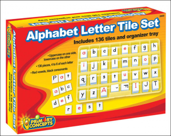 Alphabet Letter Tiles (2 sets with Organizer Box)