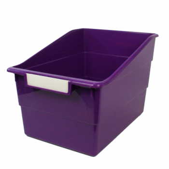 Wide Tattle Shelf File - Purple