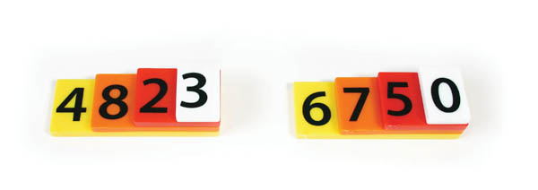 Place Value Tiles - 4 Value (single set)