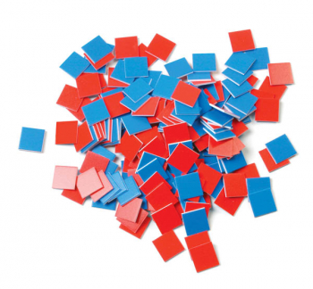 Red and Blue Square Tiles (set of 100)