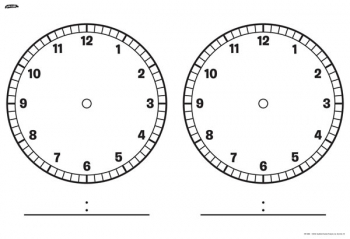 Double Clock Faces Chart