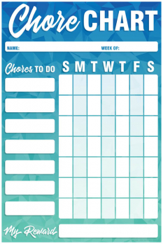 "Write & Wipe Magnetic Chart - Geo Abstract Chore Chart (12""x18"")"