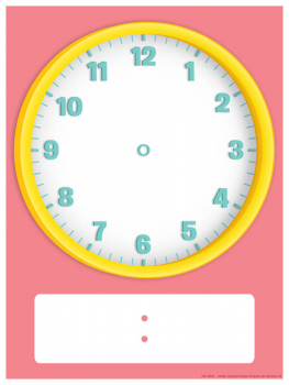 Magnetic Clock Face Chart - Small (2 piece set)