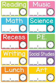 Magnetic Schedule Cards (10 piece)