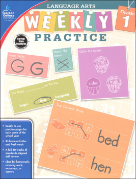Language Arts Weekly Practice: Grade 1