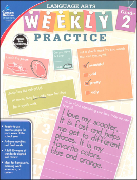 Language Arts Weekly Practice: Grade 2